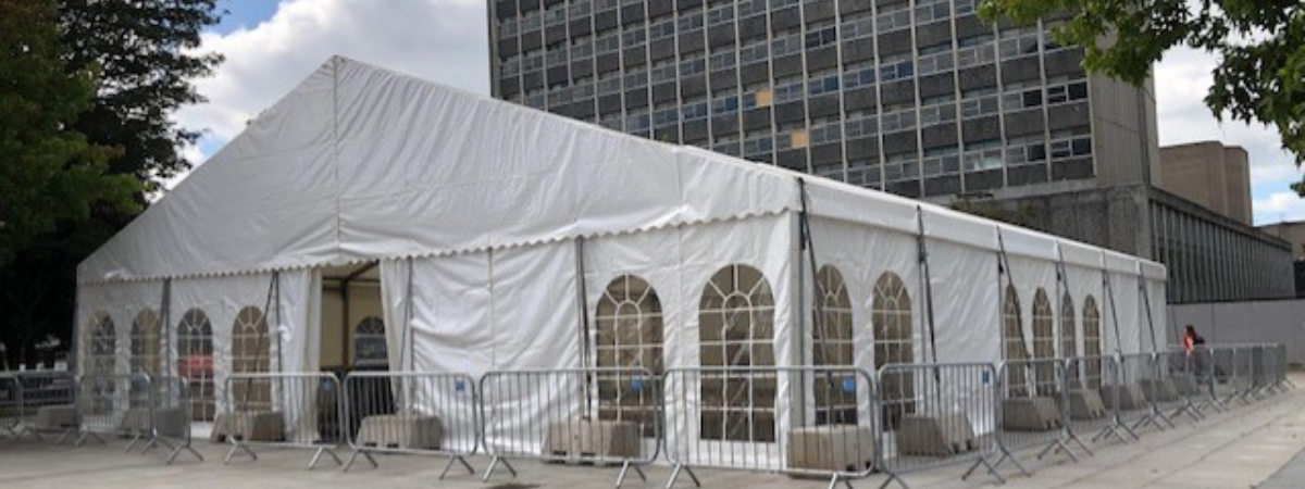 Large marquee hire for business