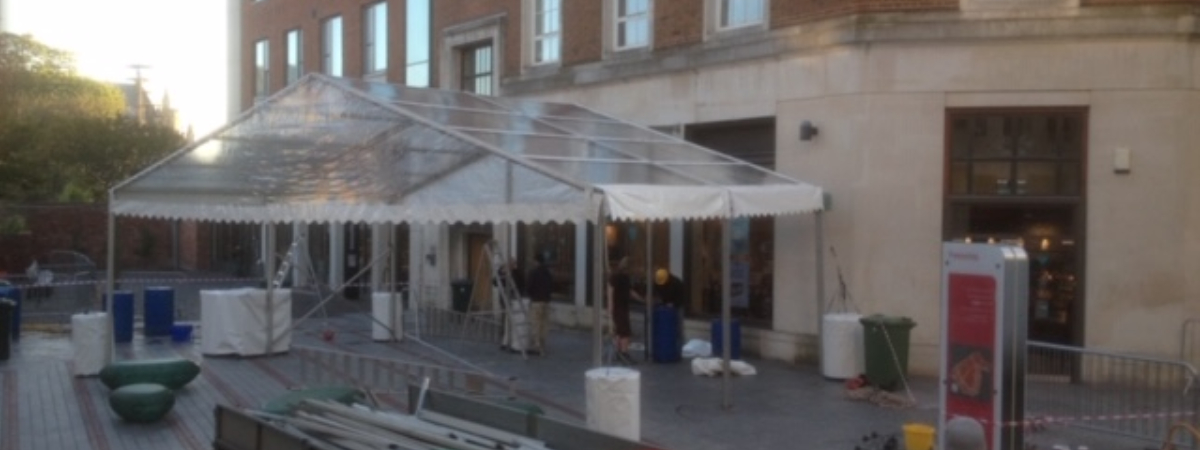 Marquee Hire for Shops and Restaurants