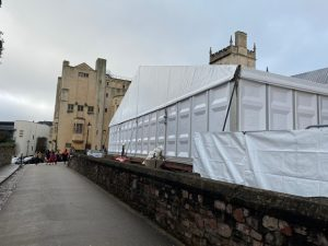 Hard Sided Marquee hire